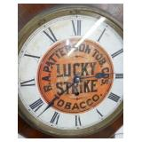 VIEW 2 CLOSEUP LUCKY STRIKE REGULATOR CLOCK