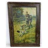 23X33 DUPONT HUNT SCENE METAL SIGN