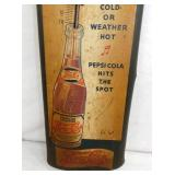 VIEW 2 EARLY DOUBLE DOT PEPSI THERM. W/ BOTTLE