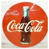 46IN COCA COLA METAL SIGN