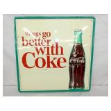 23X24 OLD STOC BETTER WITH COKE SIGN W/ BOTTLE