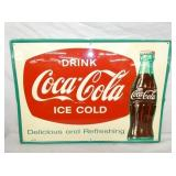 20X28 OLD STOCK ICE COLD COKE W/ BOTTLE