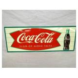 12X32 OLD STOCK COKE FISHTAIL SIGN