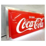 VIEW 2 LEFTSIDE LIGHTED COKE SIGN