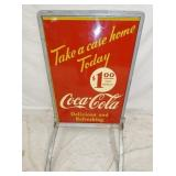 VIEW 2 UNUSUAL $1/CASE COKE SIDEWALK SIGN