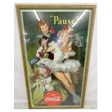 31X51 RARE COCA COLA CLOWN CARDBOARD