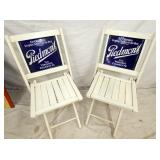 2 PORC. PIEDMONT TOBACCO SIGN CHAIRS