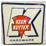 29X29 EMB. KEEN KUTTER HARDWARE SIGN