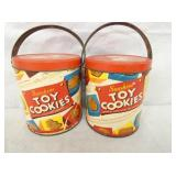 5X6 SUNSHINE TOY COOKIES CANS W/ HANDLES