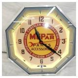 18IN MOPAR PARTS NEON CLOCK