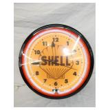 19IN SHELL NEON CLOCK
