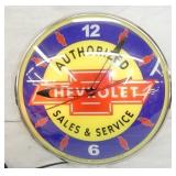 15IN CHEVROLET SALES NEON CLOCK