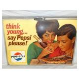 VIEW 2 CLOSEUP PEPSI CARDBOARD W/ COUPLE