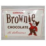 20X28 OLD STOCK EMB. BROWNIE CHOCOLATE SIGN