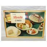 20X28 ENOY MERITA CAKES CARDBOARD SIGN