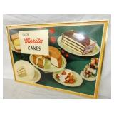 VIEW 2 CLOSEUP MERITA CAKES CARDBOARD SIGN