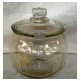 7IN EMB. ADAMS PURE CHEWING GUM JAR