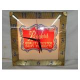 16IN BORDENS DAIRY LIGHTED CLOCK