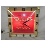 16IN WALKERS DELUXE BOURBON CLOCK