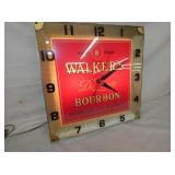 VIEW 2 LIGHTED WALKERS BOURBON CLOCK