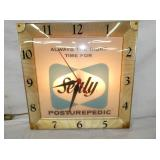 16IN SEALY POSTUREPEDIC CLOCK