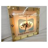 VIEW 2 LIGHTED 16IN SEALY ADV. CLOCK