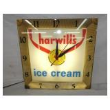 16IN HARWILLS ICE CREAM CLOCK