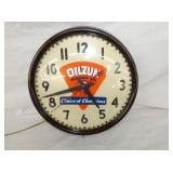 14IN OILZUM MOTOR OIL CLOCK