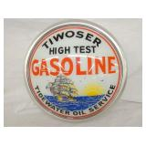 17IN. GLASS TIWOSER GASOLINE TIDEWATER  GLOBE