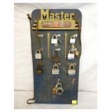 12X24 MASTER LOCKS DISPLAY