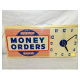 12X26 LIGHTED MONEY ORDERS CLOCK