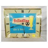 15X17 EMB. BALLANTINE BEER CLOCK