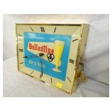 VIEW 2 LIGHED 15X17 BALLANTINE BEER CLOCK