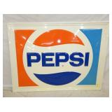 NOS 35X47 EMB.  PEPSI COLA SIGN