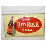 32X56 EMB. RED ROCK COLA SIGN