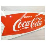 VIEW 2 CLOSEUP COKE FISHTAIL SLED SIGN