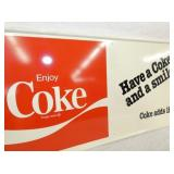 VIEW 2 CLOSEUP LEFTSIDE SELF FRAMED COKE SIGN