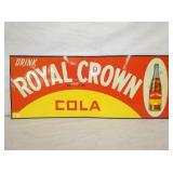 VIEW 2 EMB. ROYAL CROWN COLA SIGN