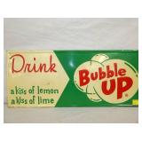 12X28 EMB. BUBBLE UP DRINK SIGN