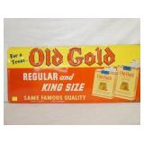 14X33 EMB. GOLD GOLD TOBACCO SIGN