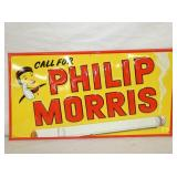 VIEW 2 CLOSEUP NOS EMB. PHILIP MORRIS SIGN