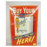 12X18 EMB CHESTERFIELD TOBACCO SIGN