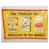 16X24 EMB. TOBACCOS FOR MARKET SIGN