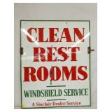 PORC. CLEAN REST ROOMS SINCLAIR SIGN