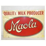 MAOLA MILK PRODUCER SIGN