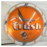 15IN DOUBLE BUBBLE ORANGE CRUSH CLOCK