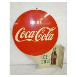 19X22 COCA COLA FLANGE SIGN