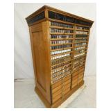 VIEW 2 SUPER NICE OAK SPOOL CABINET W/ DRAWERS