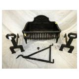 BLACKSMITH HOOK, CAST FIREPLACE ANDIRONS