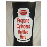 48X96 PROPANE CYLINDERS REFILLED SIGN